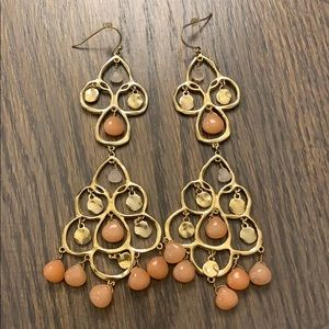 Long Gold Tiered earring